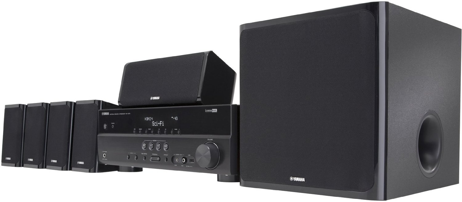 Yamaha yht 497 5 1 channel home theater system symphony for Yamaha home stereo systems