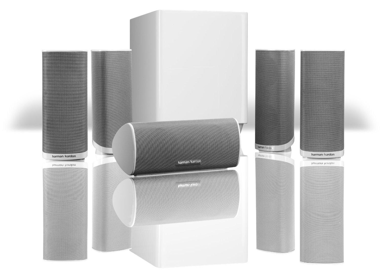harman kardon hkts 16whtam 5 1 channel surround sound. Black Bedroom Furniture Sets. Home Design Ideas