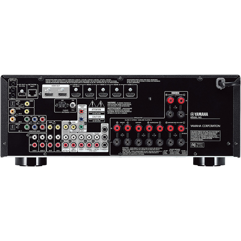 yamaha rx v775wa 7 2 channel home theater receiver with. Black Bedroom Furniture Sets. Home Design Ideas