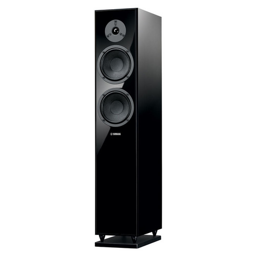 sound watts yamaha floor dp finish ns black floors standing speakers