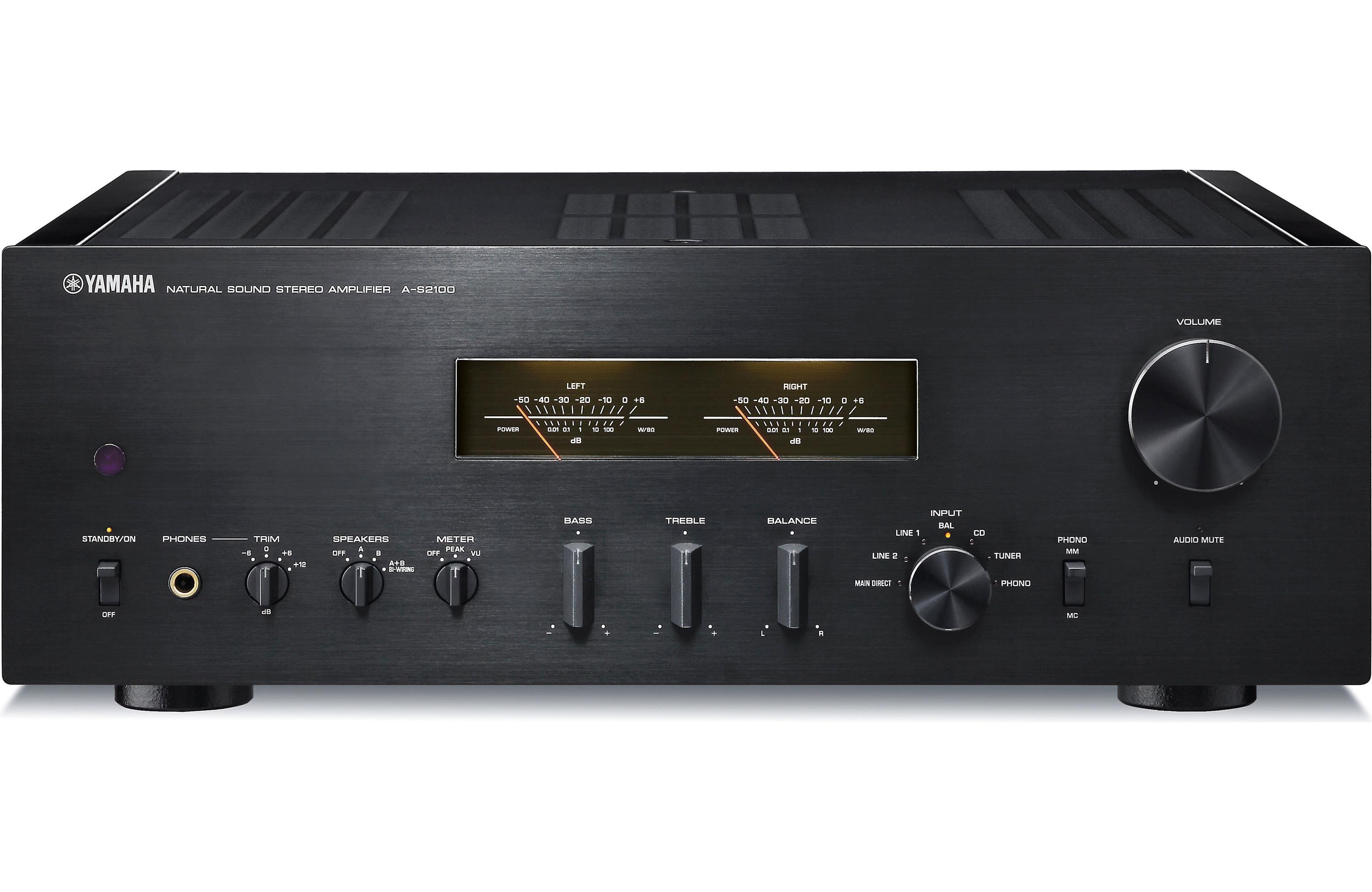 yamaha a s2100 stereo integrated amplifier black. Black Bedroom Furniture Sets. Home Design Ideas